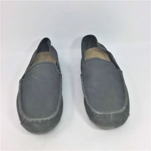 UGG Shoes - Ugg Gray Loafers Leather Slip On Driving Shoes 12